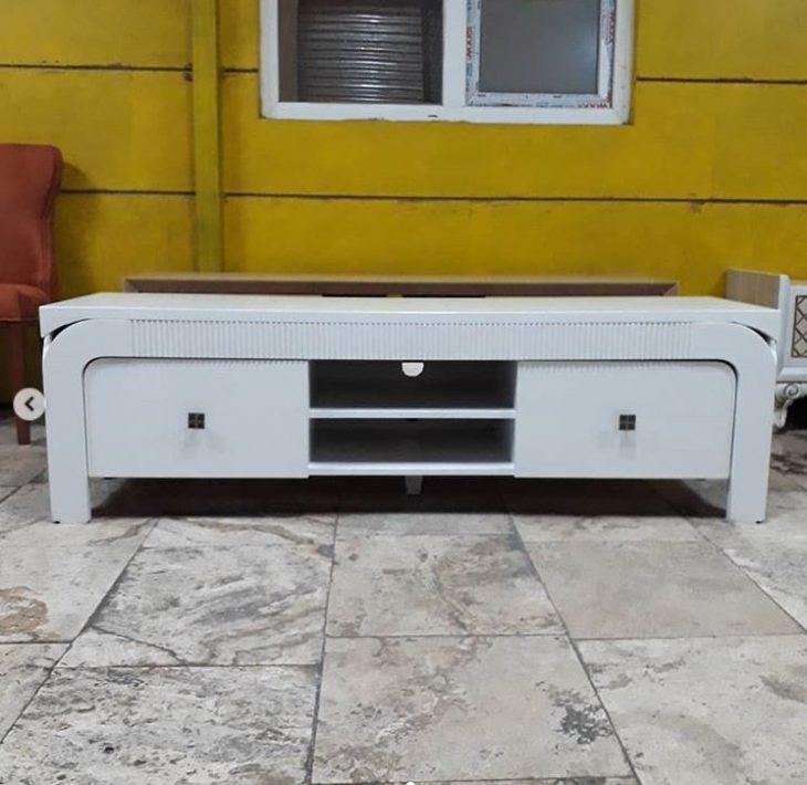 میز تلویزیون مدل کاجو سفید