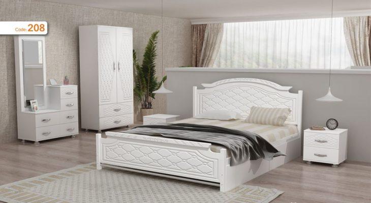 تخت خواب دو نفره مدل روژان