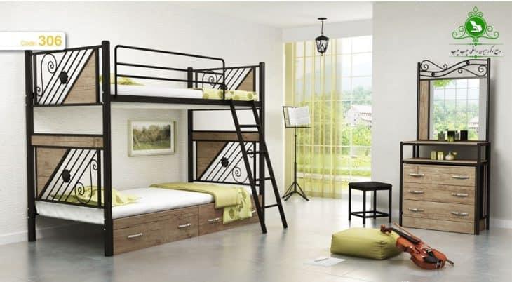 تخت خواب دو طبقه مدل تری استار
