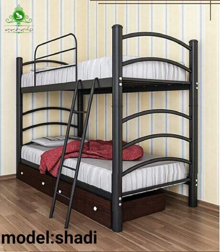 تخت خواب دو طبقه مدل شادی