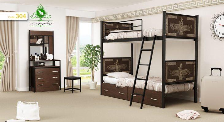 تخت خواب دو نفره مدل فروهر