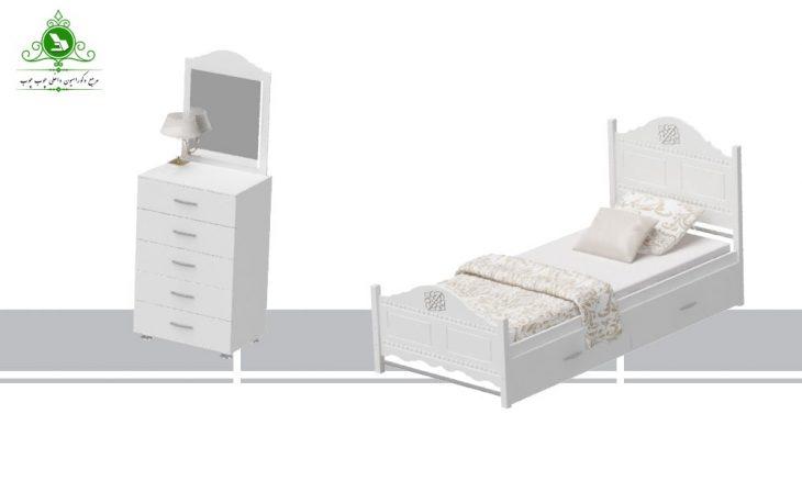 تخت خواب یک نفره مدل نرگس