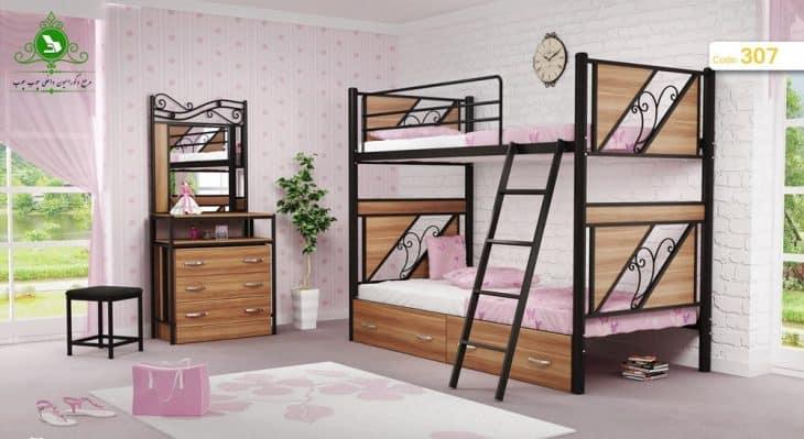 تخت خواب دو طبقه مدل کلاسیک