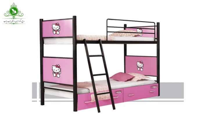 تخت خواب دو طبقه مدل ساده مارک دار